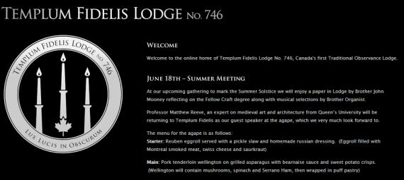 Templum Fidelis website