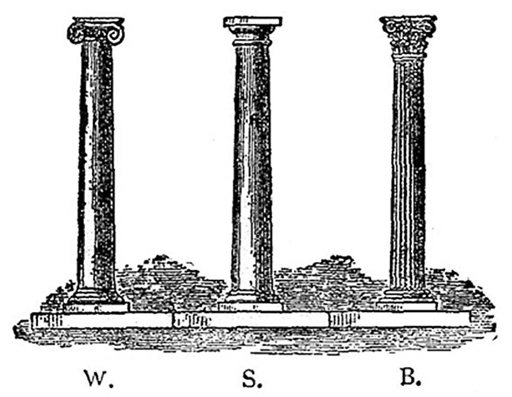3 Greek columns